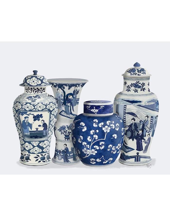 Chinoiserie Vase Quartet 1