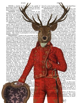 Deer in Red and Gold Jacket