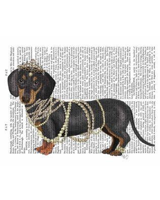 Dachshund and Pearls