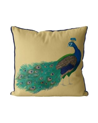Peacock Head Turned on Gold