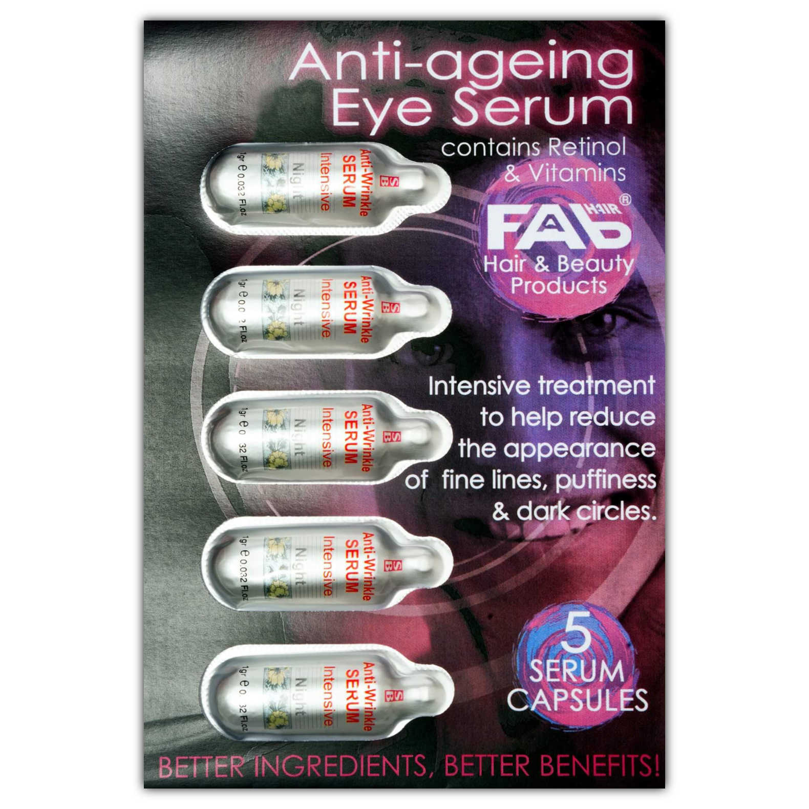 Anti-ageing Eye Serum containing retinol and vitamins by FAB Hair and Beauty