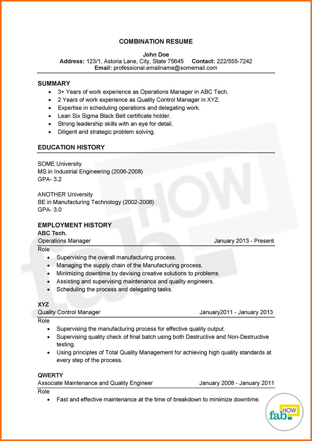how to add experience in resume sample