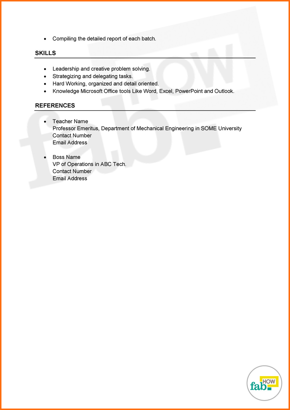 Download Combination Resume Sample In Pdf