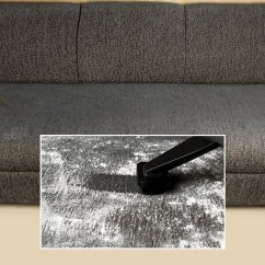 Steam Clean Leather Sofa Cleaning Hackensack Nj Vacuum Woman Removing Dust From Edge Using ...