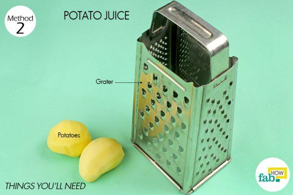 potato juice for dark spots on face things need