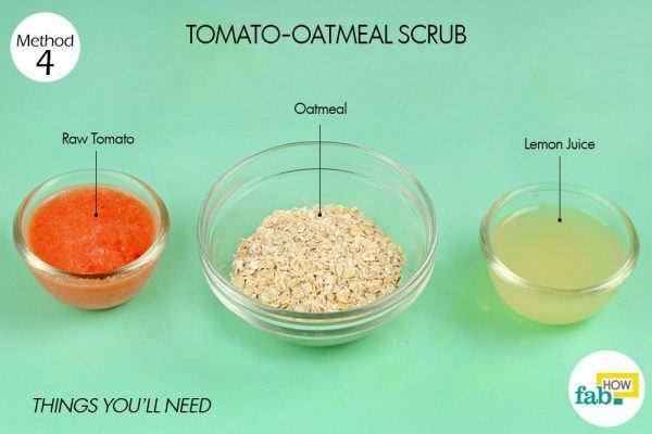 tomato-oatmeal scrub for dark spots things need