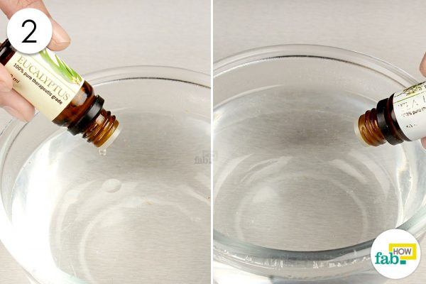 add in the essential oils to the water for chest congestion