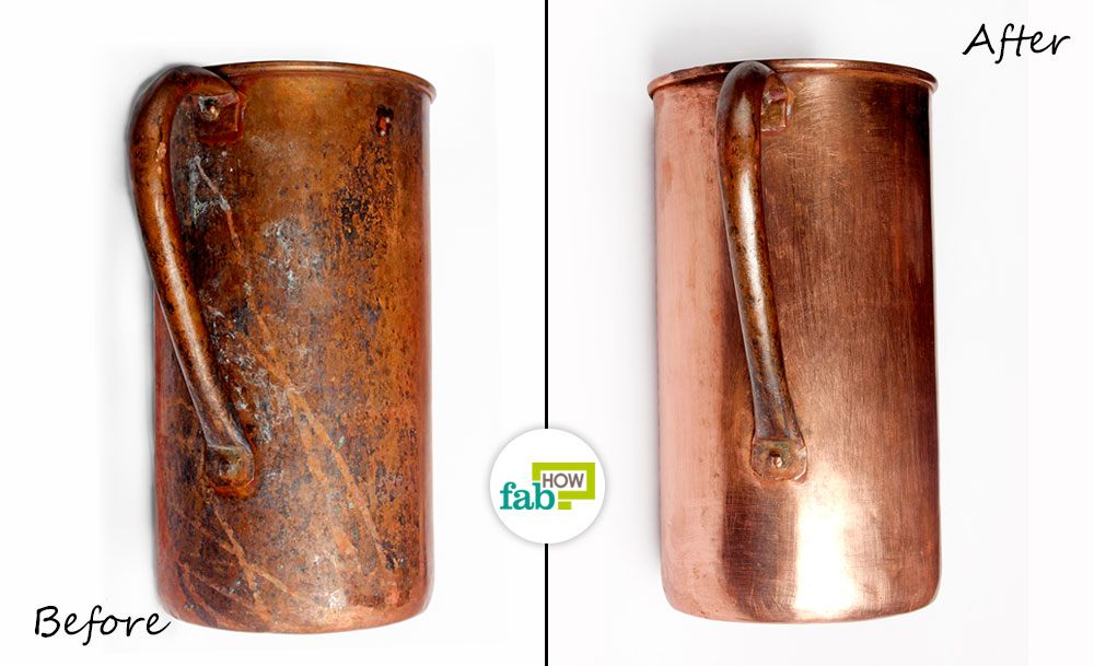 Clean Copper Electrical Contacts