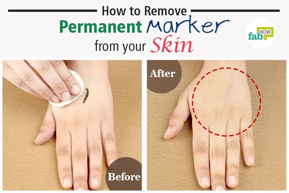How To Get Marker Off Of Skin