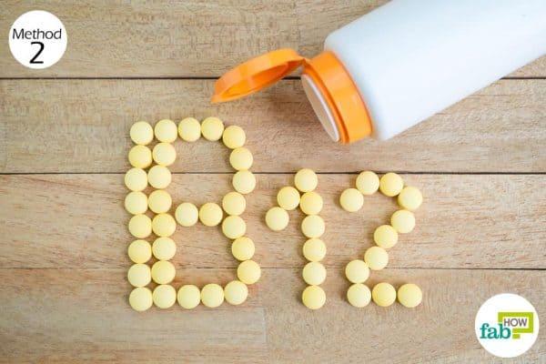 Take vitamin B12 supplements to treat viiligo