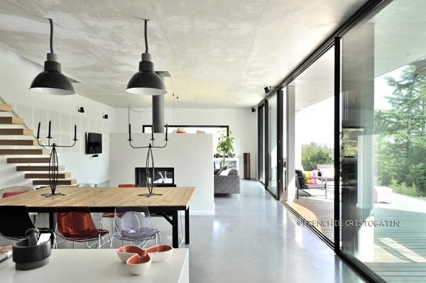 Maison contemporaine en bton  Charbonnires  Fabien Perret Architecte Lyon