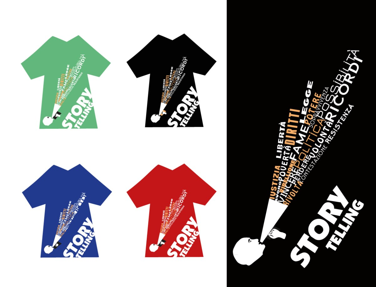 "T-Shirt per la rassegna teatrale ""Storytelling"" (1 image)"