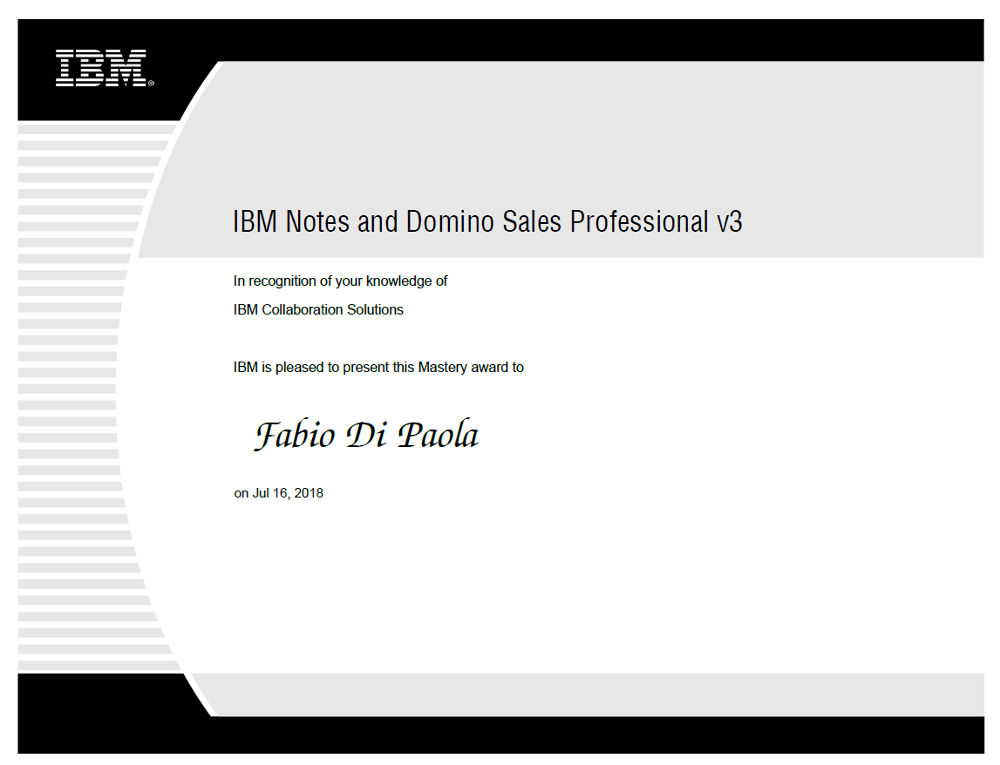 IBM Notes and Domino Sales Professional v3