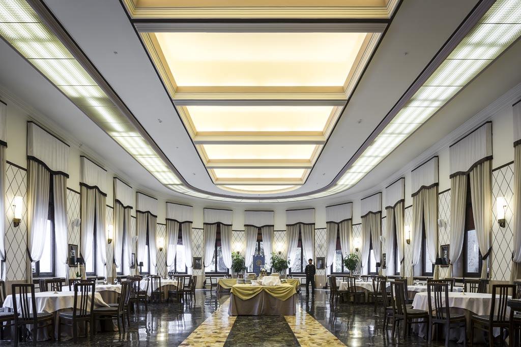 castrocaro terme-grand hotel, salone da pranzo