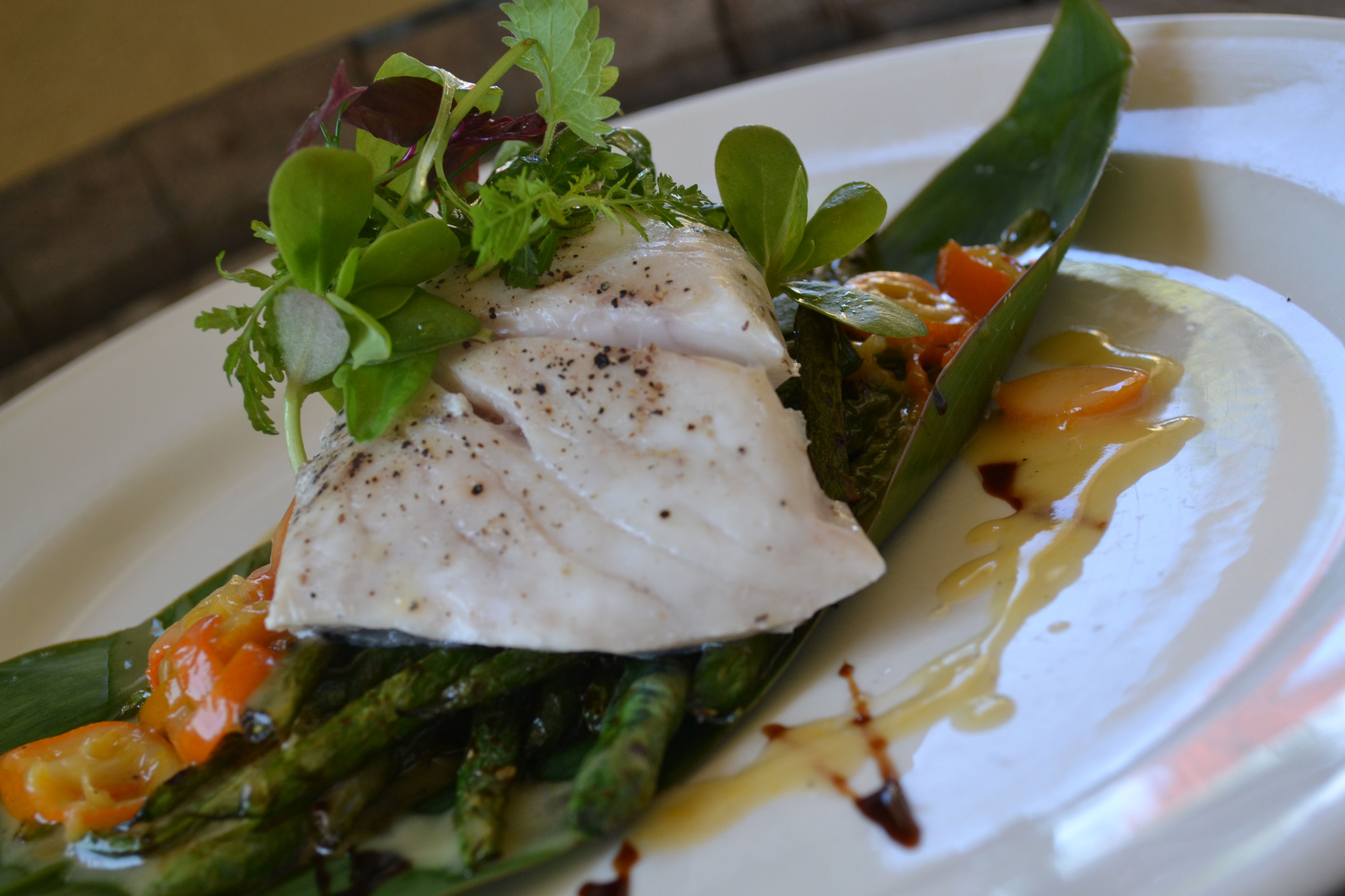 recipes raquo garganelli with duck leeks asparagus veal demi glace