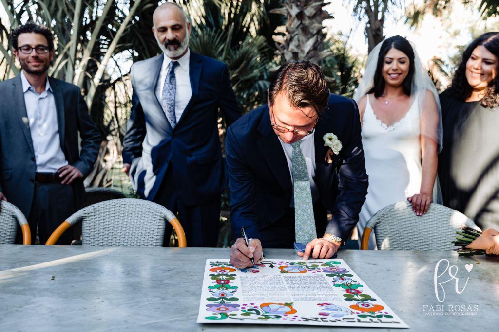 Destination Jewish cabo wedding at Acre Baja