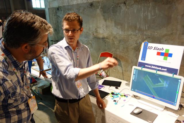 3DSlash de Sylvain Huet à la Maker Faire Paris 2014
