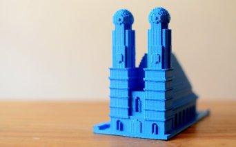 3d Druck Frauenkirche aus Minecraft