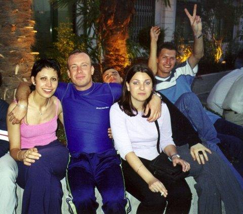 A Lignano in discoteca, nel 2000