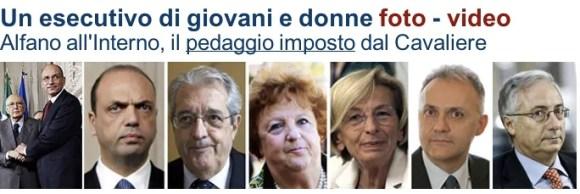 Il titolo di Repubblica sul governissimo PD-PDL, un autentico schiaffo in faccia  alle persone per bene.
