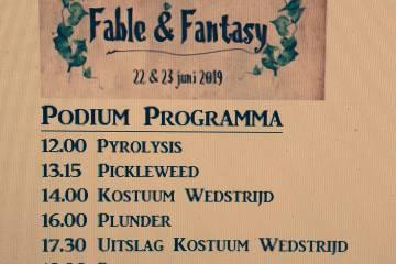 agenda zondag fable fantasy