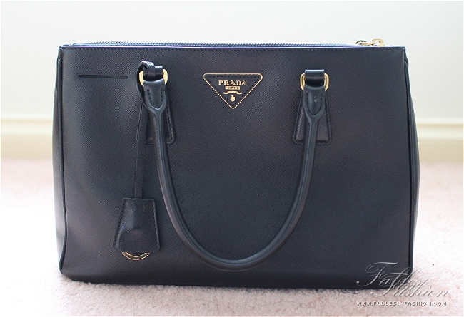 63d9a20c36c0 Prada Saffiano Lux Small Tote Review and Photos - Fables in Fashion