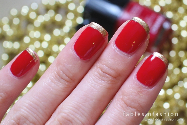 Golden Tip Manicure Nail Art