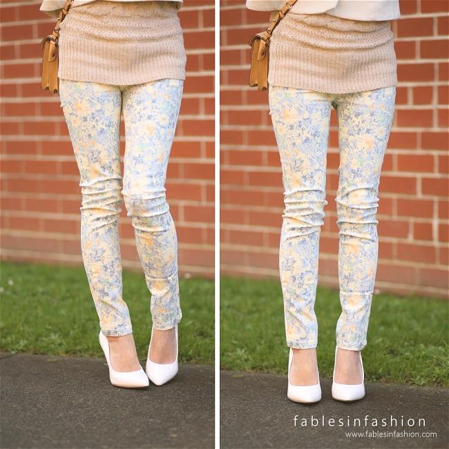 OOTD ~ Floral Jeans