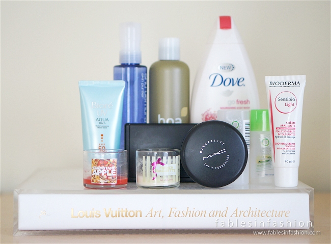 August 2014 Favourite and Empties