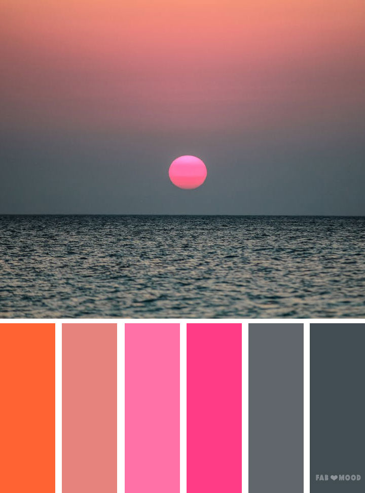 Grey Pink and orange color schemewedding color inspiration