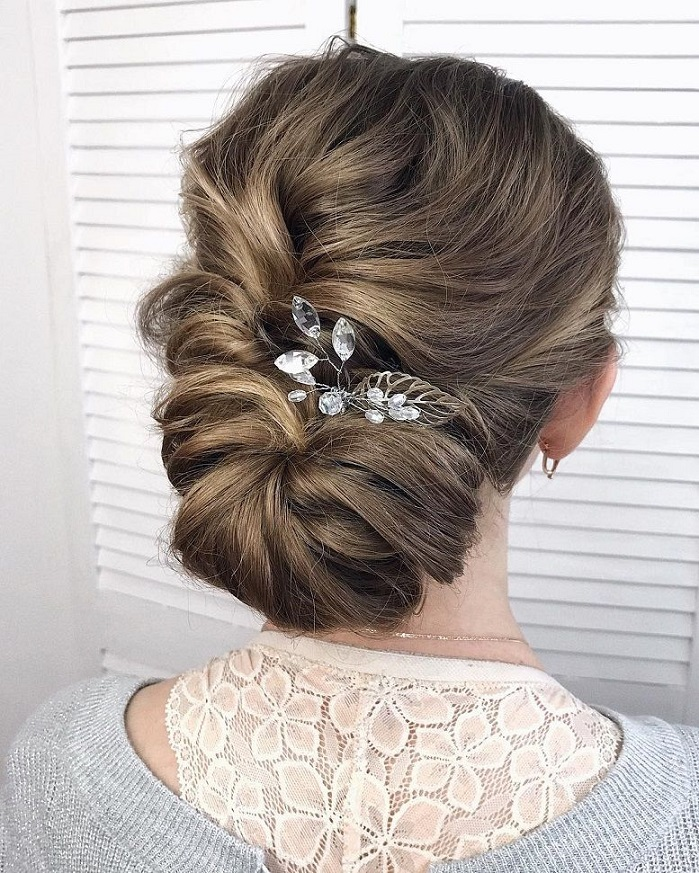 Beautiful wedding hairstyle inspiration, updo,bridal updo ,messy updo ,low bun