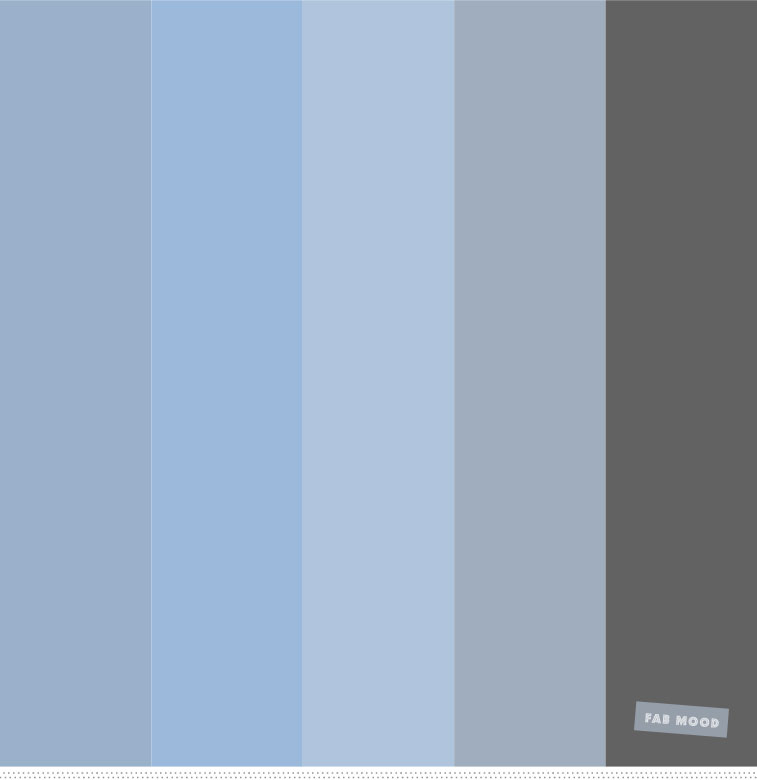 Color Inspiration  Shades of Blue and grey color palette