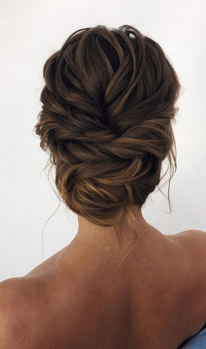 updo braided updo hairstyle,simple updo, swept back bridal