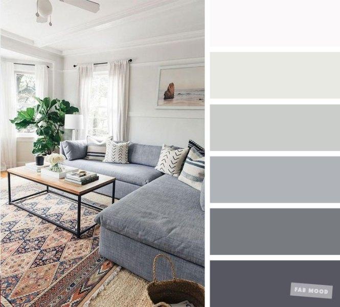 Living Room Color Schemes Grey Palette