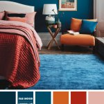 Burnt Orange Dark Coral Teal Bedroom For Modern Chic Looks