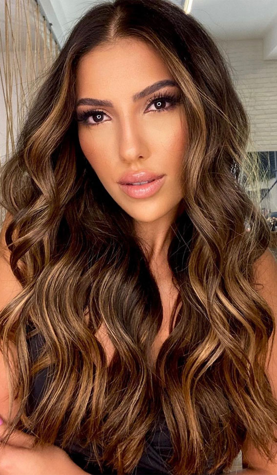 Gorgeous Hair Colour Trends For 2021 : Glam Honey Highlights