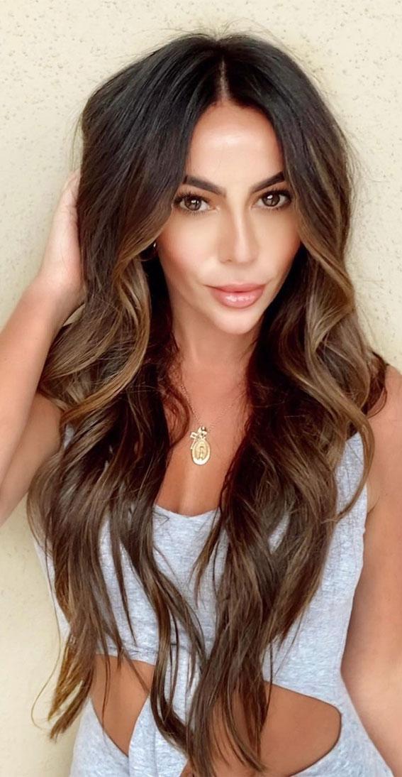 Gorgeous Hair Colour Trends For 2021 : Subtle Caramael Hair