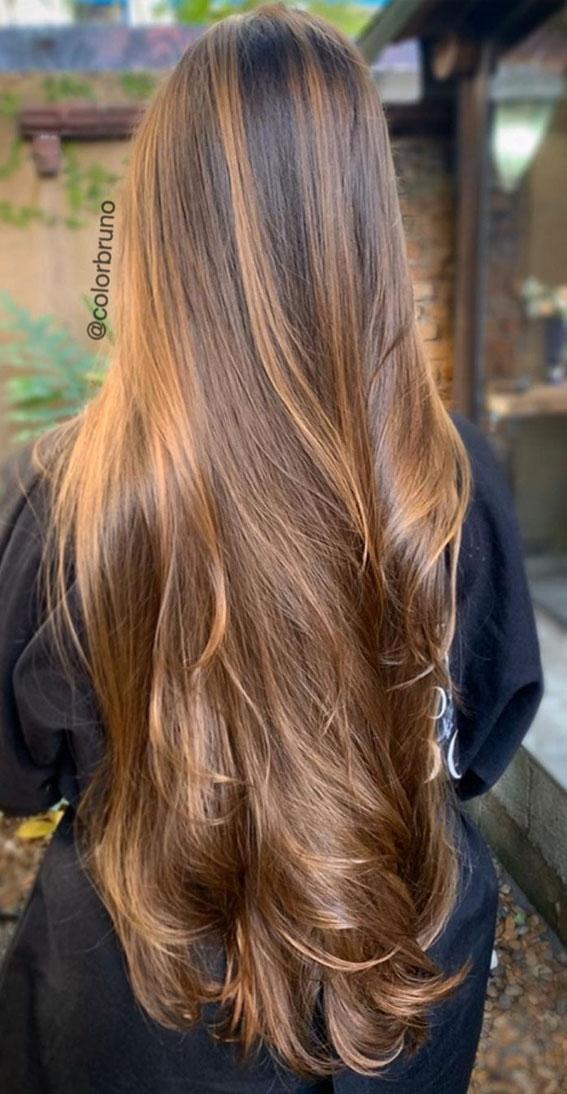 Gorgeous Hair Colour Trends For 2021 : Golden Caramel