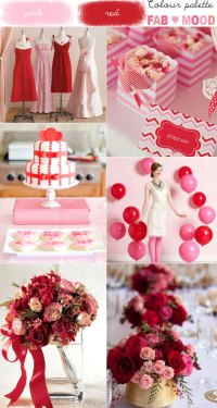 Pink & Red Wedding Colour Mood Board 1 - Fab Mood ...