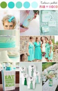 aqua green wedding colors
