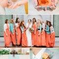 Wedding colors winter wedding color palette coral mint winter wedding