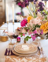 Romantic wedding table setting ideas