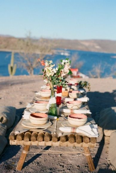 for the table wedding reception58 - simple beach wedding decorations