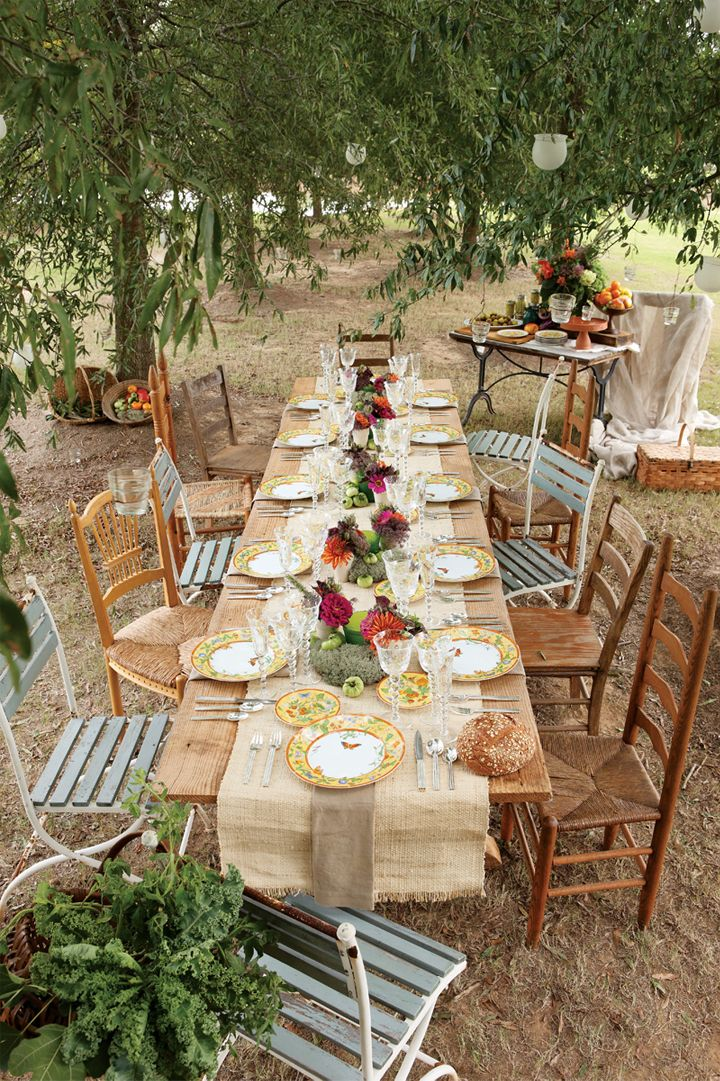 Country Wedding Table Centerpieces