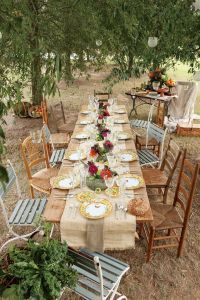 Country wedding table ideas