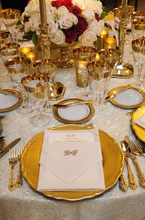 Gold Wedding Tablescape Fab Mood Wedding Colours