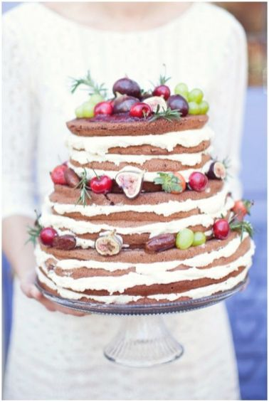 rustic wedding cake,naked rustic wedding cake,rustic autumn wedding cake