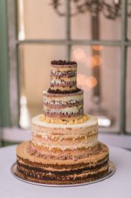 naked elegant wedding cake