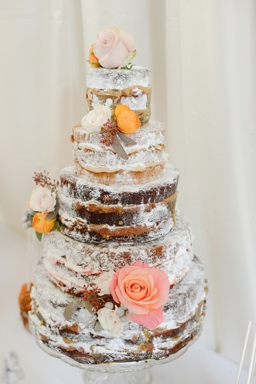 gorgeous naked wedding cake