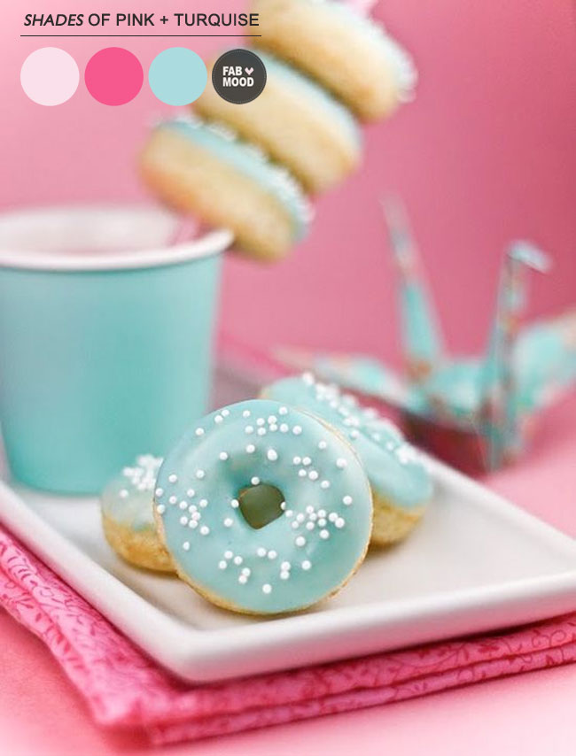 Cute Macaroons Wallpaper Turquoise Pink Wedding Colors Palette
